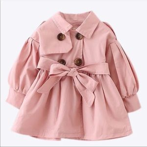 ➡️LAST ONE-Toddler button trench coat (blush pink)